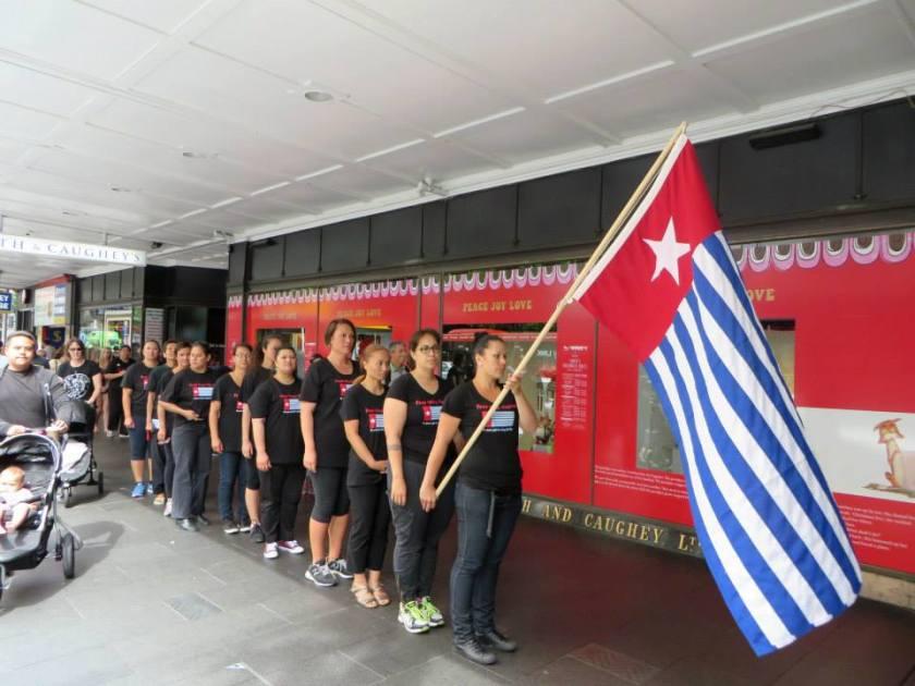 West Papua independence Queen Street line Dec 2013
